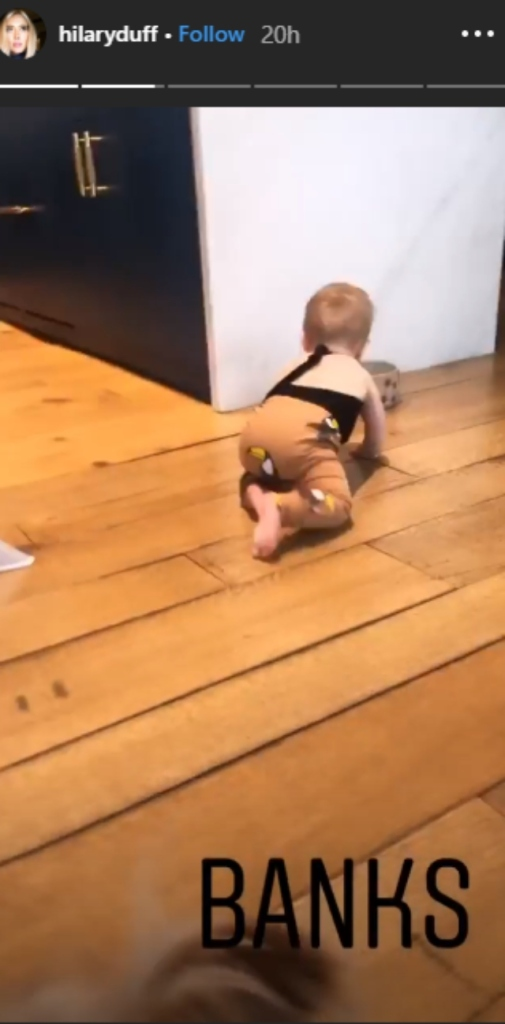 Hilary Duff's daughter video.