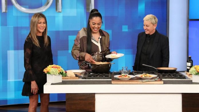 Ellen DeGeneres Jennifer Aniston Ayesha Curry
