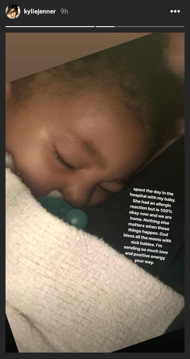Stormi hospitalized Kylie Instagram embed