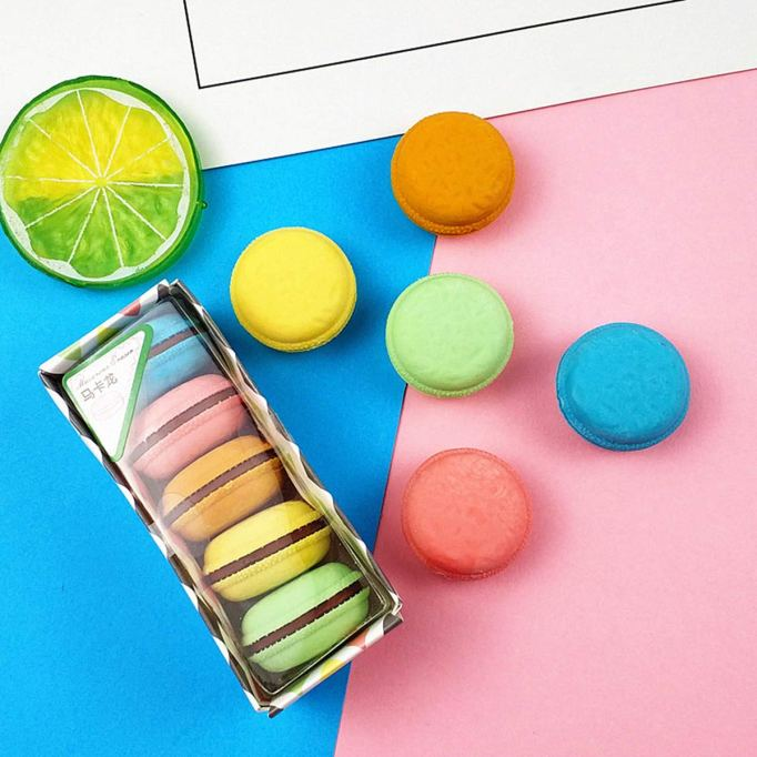 Unique School Supplies: Macaron Erasers