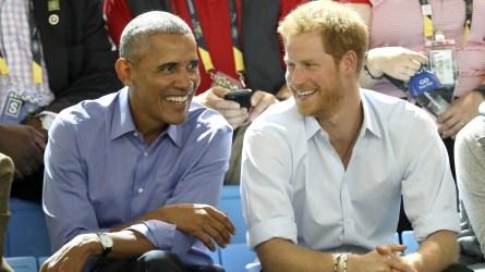 Barack Obama & Prince Harry.