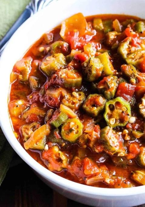 Fresh Stewed Okra and Tomatoes.
