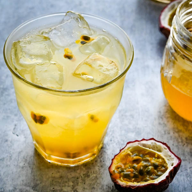 Sparkling Passionfruit Lemonade