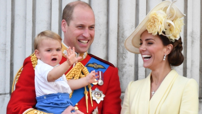 Prince Louis, Prince William and Kate