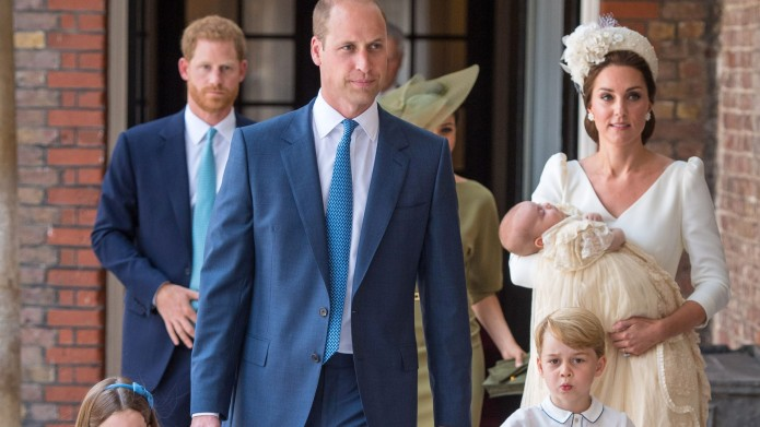 Princess Charlotte and Prince George hold