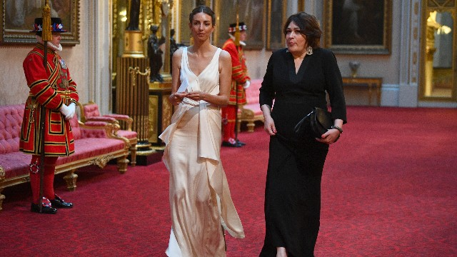 Rose Hanbury (left) arrives at the State Banquet at Buckingham Palace, London, on day one of US President Donald Trump's three day state visit to the UK