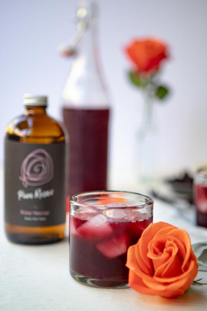 Rose Nectar Hibiscus Lemonade