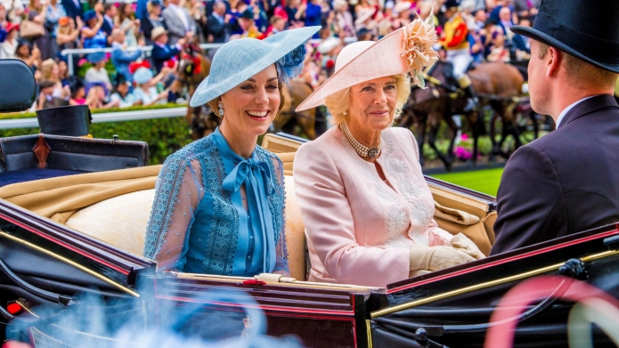 Kate Middleton and Camilla.