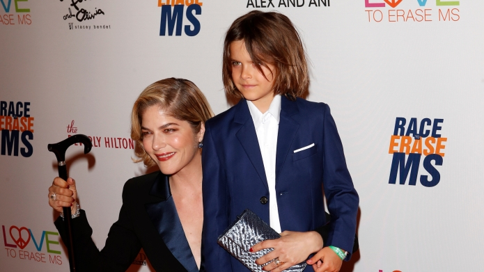 Selma Blair and son, Los Angeles,
