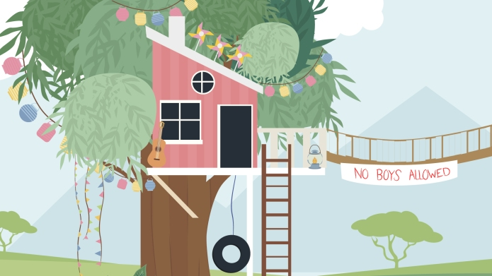 No Boys Alllowed Treehouse