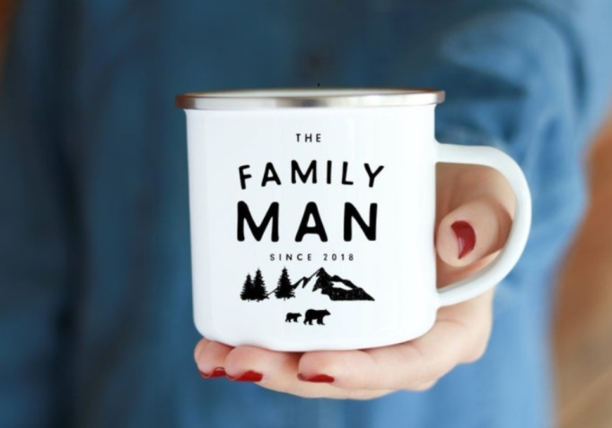 'The Family' Man Enamel Camp Mug.