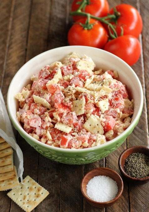 Tomato Cracker Salad.