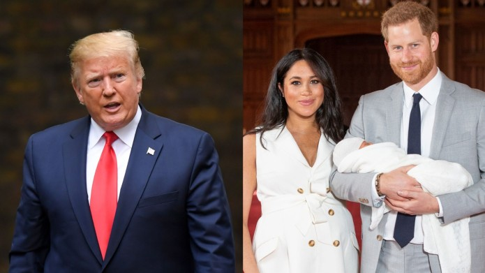 Collage of Donald Trump, Meghan Markle