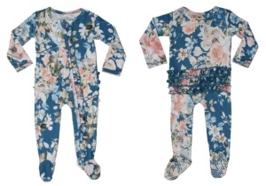 Posh Peanut Blue Rose Onesie