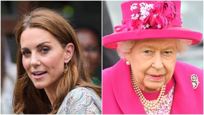 Kate Middleton; Queen Elizabeth.