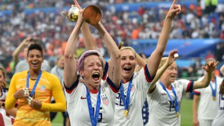 Megan Rapinoe of USA celebrates World