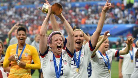 Megan Rapinoe of USA celebrates World