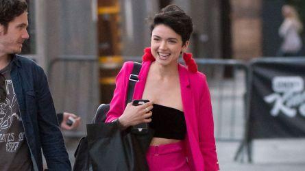 bekah martinez pink jacket