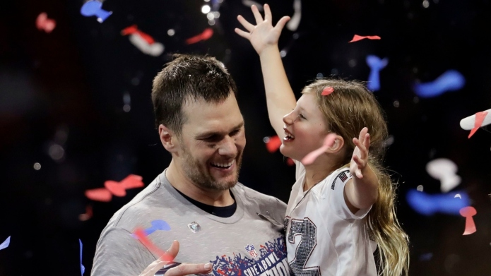 Tom Brady Works Out with Daughter