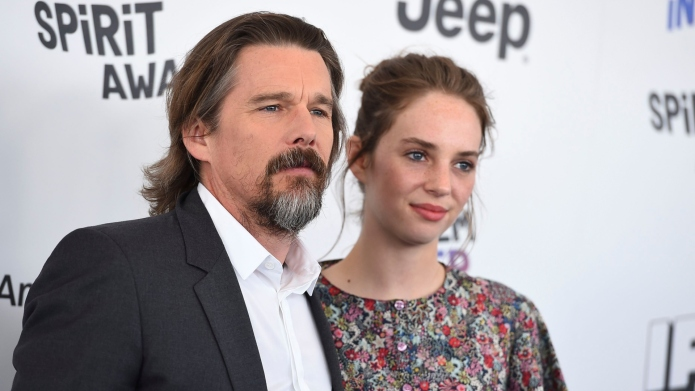Ethan Hawke Had the Most Dad Reaction to Watching His Daughter on Stranger Things