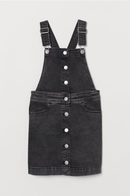 Stylish Back to School Clothes: Black Denim Dress