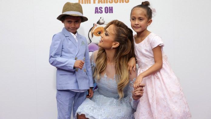 Jennifer Lopez & Kids Max and