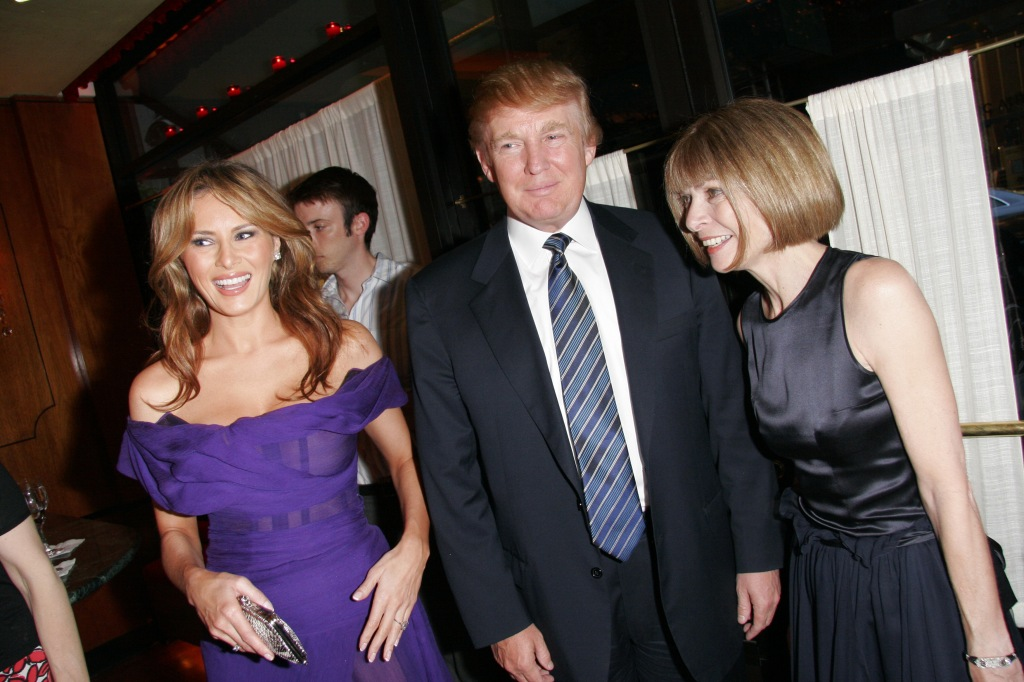 Melania Trump, Donald Trump, Anna Wintour