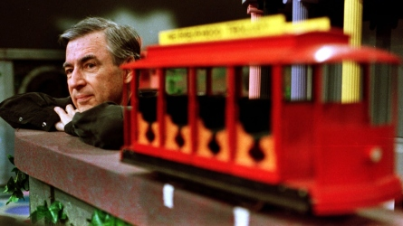 Watch Tom Hanks as Mr. Rogers