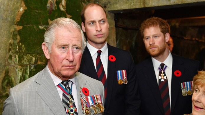 Prince Charles, Prince William and Prince