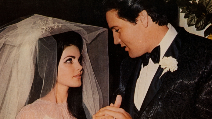 Priscilla Presley and Elvis Presley Wedding