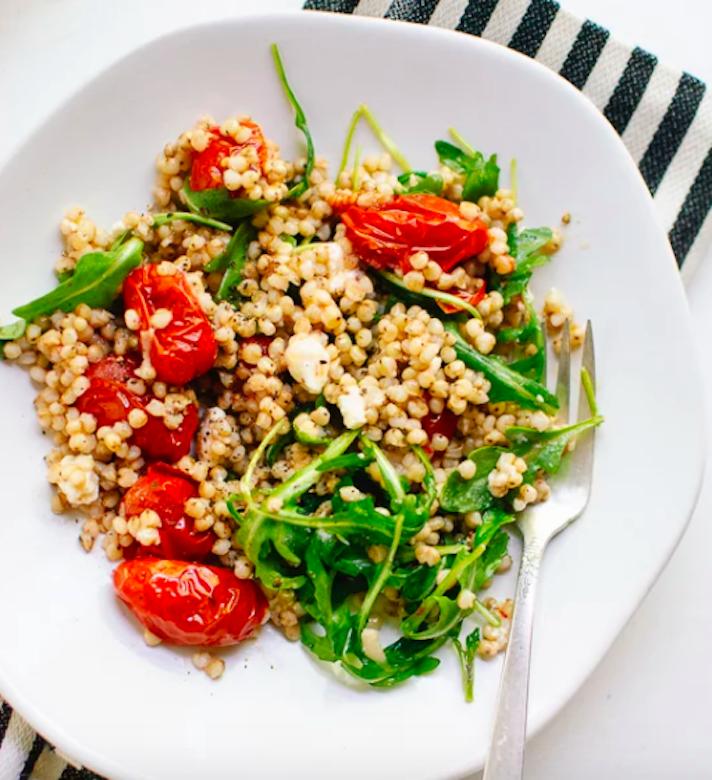 Roasted Tomato, Arugula, and Sorghum Salad