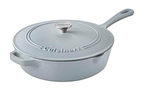 grey cuisinart cast iron skillet
