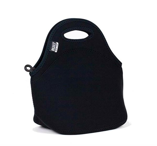 Black Neoprene Lunch Tote Bag
