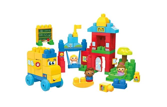Mega Bloks First Builders Schoolhouse Friends Set