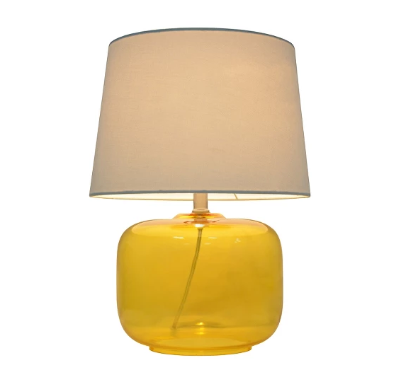 Pillowfort Yellow Glass Table Lamp