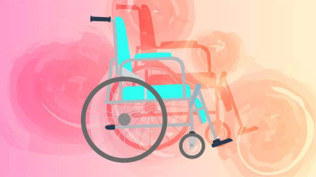 Illustration of a wheelchair