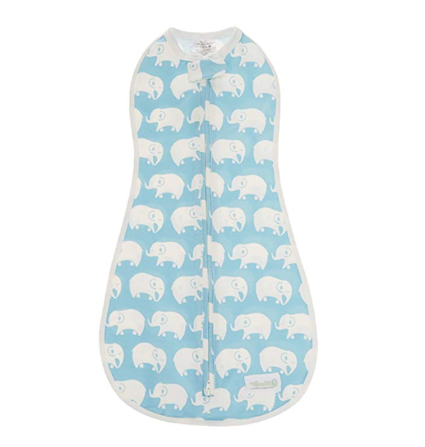 woombie blue swaddle