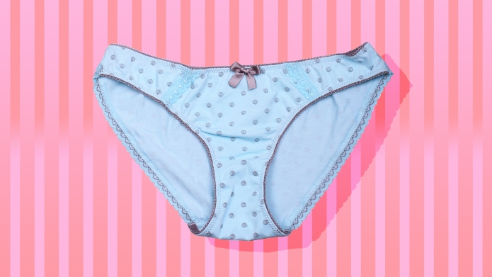 Women's underwear on a pink background