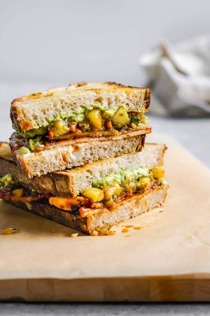 Vegan Barbecue Recipes: Vegan BBQ Tofu Sandwiches with Pineapple Relish