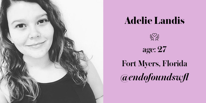 endometriosis activist adelie landis
