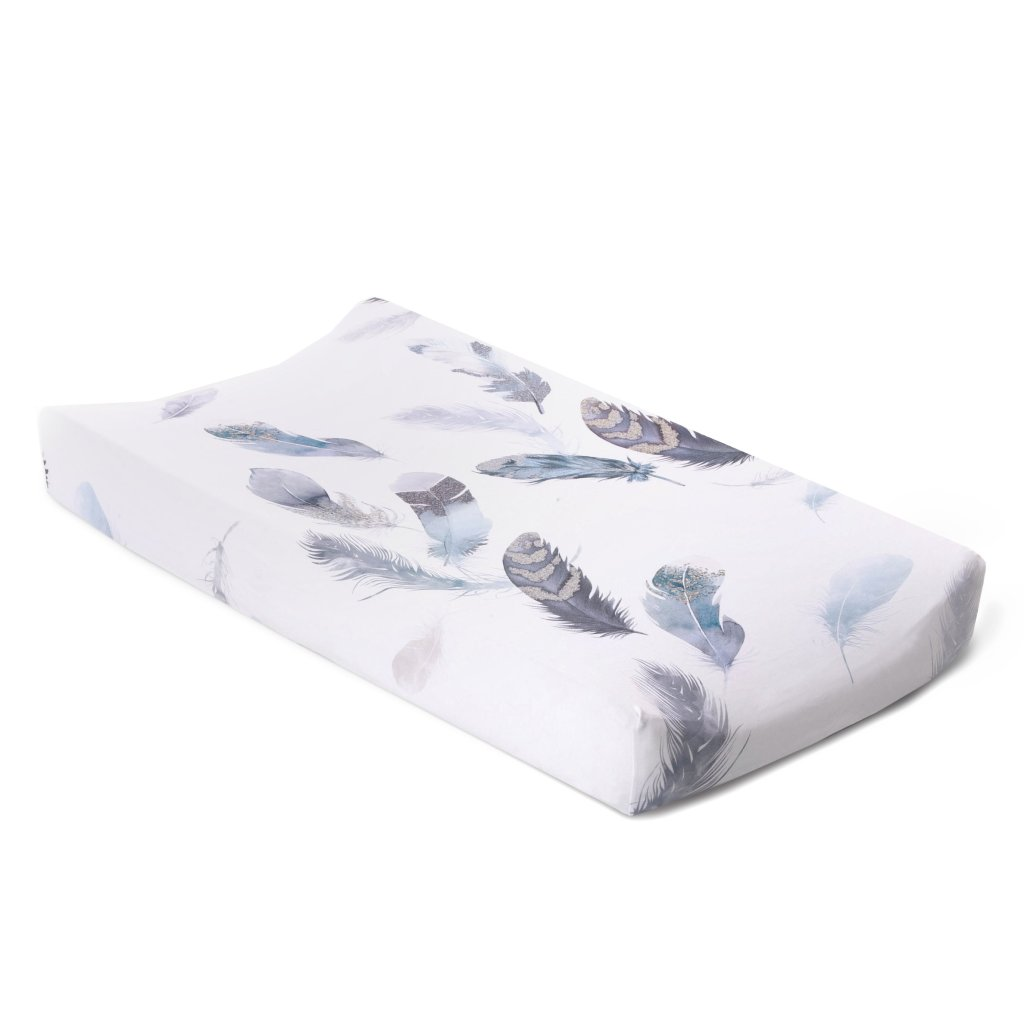 Christina Anstead Nursery: Featherly Jersey Changing Pad Cover
