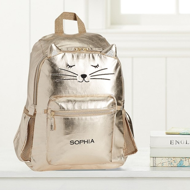 Gold Kitty Backpack.