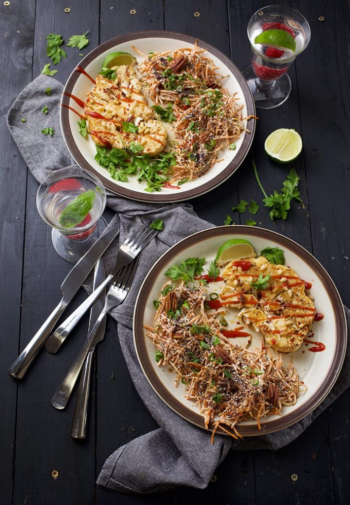Vegan Barbecue Recipes: BBQ Flavored Cauliflower Steaks