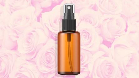 Illustration of rose water