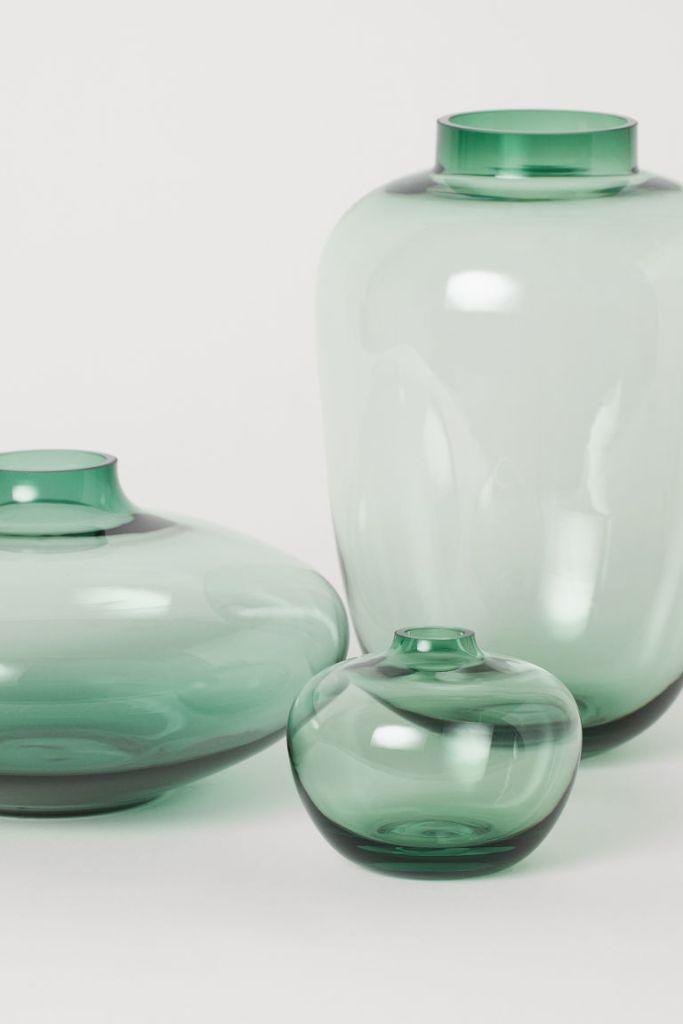 h&m green vases