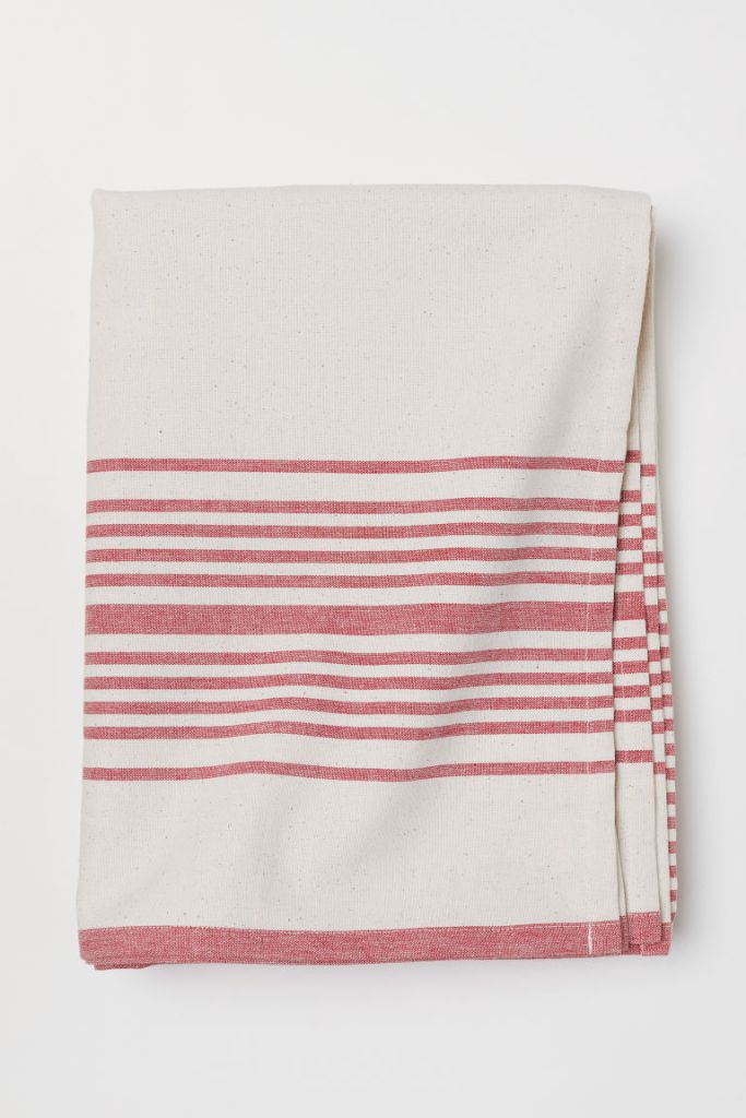 h&m striped tablecloth