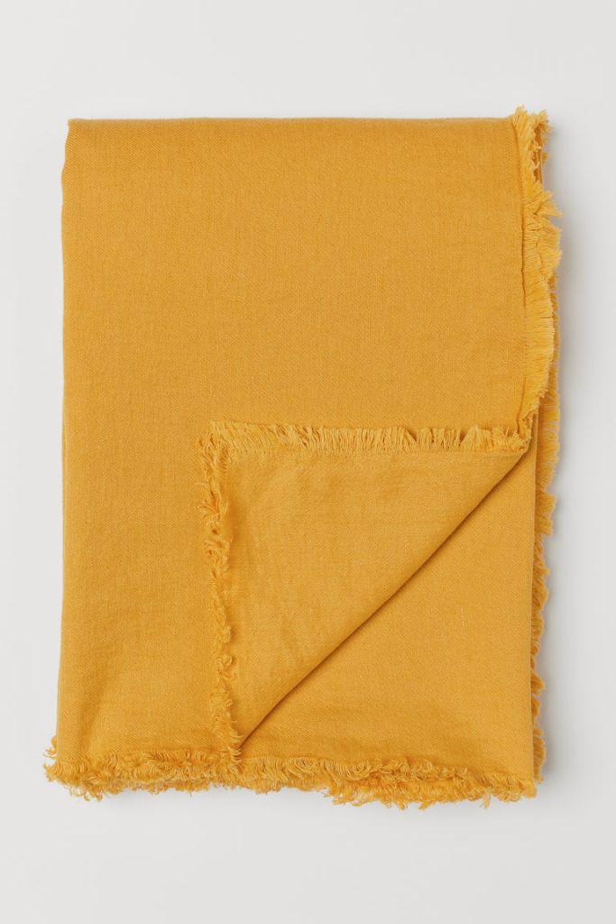 h&m yellow bedspread