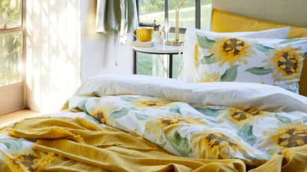 H&M yellow linen blanket