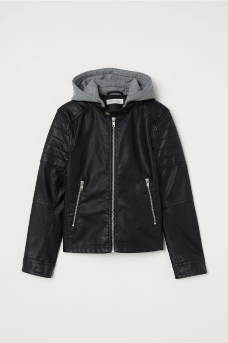 Stylish Back to School Clothes: Hooded Biker Jacket