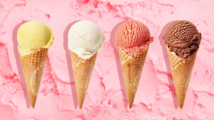 Tasty ice cream as background; Shutterstock